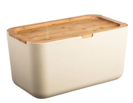 Chlebník Bubu je vyrobený z rozložiteľného bambusového plastu. Veko je z masívneho bambusového dreva a slúži zároveň ako krájacia doska.