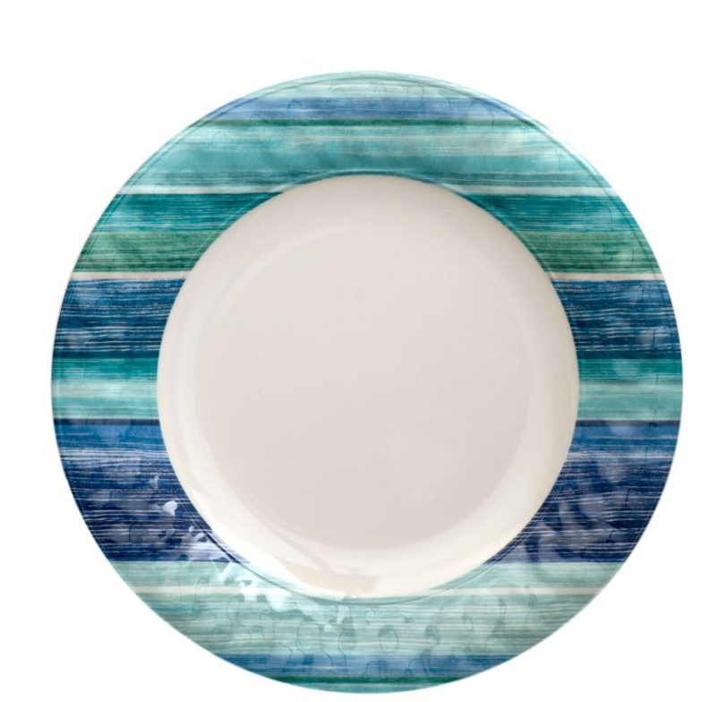 EC coastal dinner plate stripes