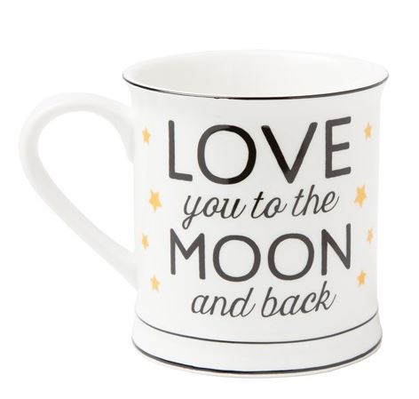 "Keramická šálka ""Love You to the Moon and Back"""