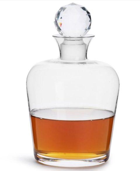 Sklená karafa s krištáľovým uzáverom Club Whiskey.