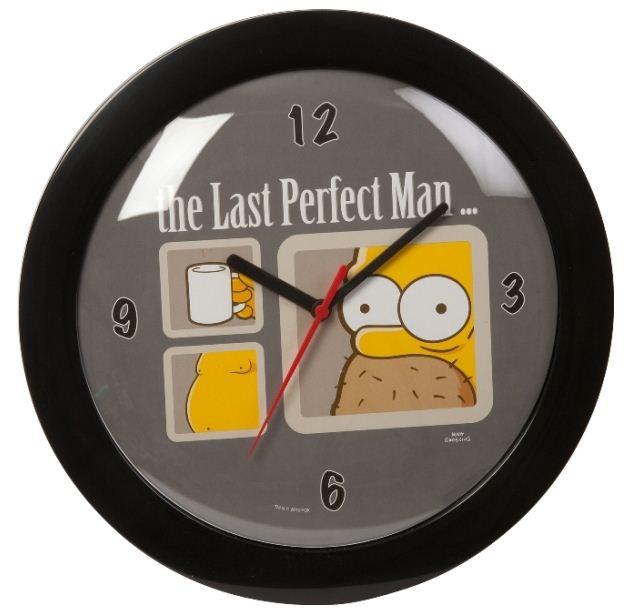 """The Simpsons"" nástenné hodiny ""Last Perfect Man"""
