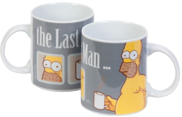 """The Simpsons"" porcelánová šálka ""Last Perfect Man"" šedá"