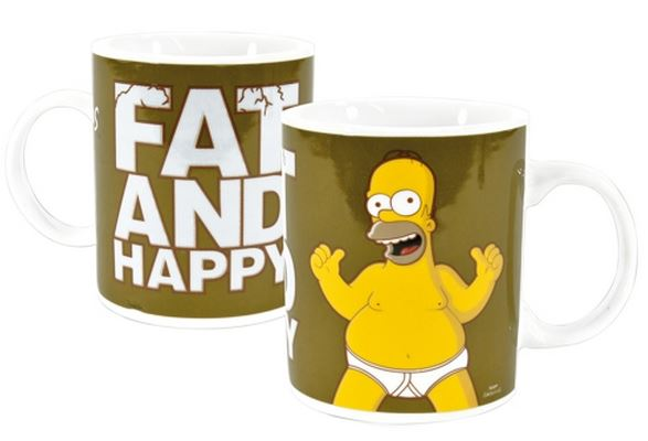 """The Simpsons"" porcelánová šálka ""Fat and Happy"""
