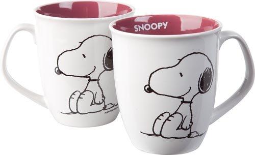 """""""Snoopy"""" šálka bielo-ružová"""